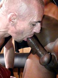 Big big black cock drills gay ass